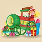 Bożenarodzeniowa ilustracja z drewno zabawki charakterem również zwrócić corel ilustracji wektora Obraz Royalty Free