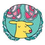 Bożenarodzeniowa jelenia sprzedaży odznaka Obrazy Stock