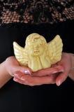 Bożenarodzeniowa kobieta z aniołem Zdjęcie Royalty Free