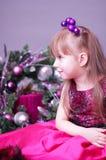 Bożenarodzeniowa mała dziewczynka Zdjęcie Royalty Free
