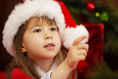 Bożenarodzeniowa mała dziewczynka Fotografia Stock