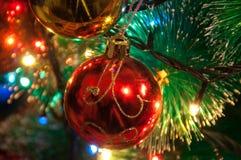 Bożenarodzeniowa piłka Święta moje portfolio drzewna wersja nosicieli Zdjęcia Stock