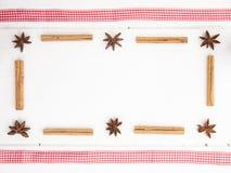 Bożenarodzeniowa pikantność i sprawdzać czerwony faborek Obraz Royalty Free