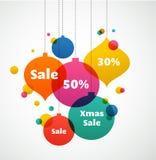 Bożenarodzeniowa sprzedaż - kolorowy tło Zdjęcia Stock
