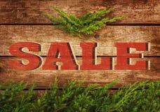 Bożenarodzeniowa sprzedaż - rocznika plakatowy projekt Obrazy Stock
