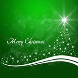Bożenarodzeniowa tło zieleń z tekstów Wesoło bożymi narodzeniami Zdjęcia Stock