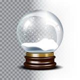 Bożenarodzeniowa wektorowa śnieżna kula ziemska na w kratkę ilustracji