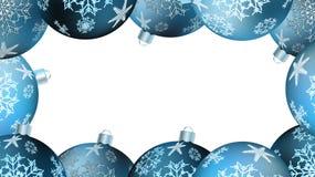 Bożenarodzeniowa zimy rama dla nowego roku stubarwne round piłki, choinka Wektorowy tło ilustracja wektor