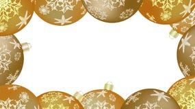 Bożenarodzeniowa zimy rama dla nowego roku stubarwne round piłki, choinka Wektorowy tło royalty ilustracja
