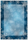 Bożenarodzeniowa zimy rama - ilustracja Bożenarodzeniowy zmrok Opróżnia Ramowego portret - błękit - Zdjęcie Royalty Free