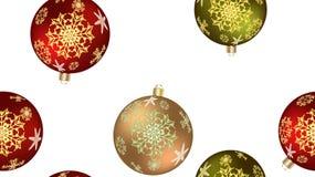 Bożenarodzeniowa zimy tekstura bezszwowy wzór dla nowego roku od stubarwnych round piłek, choinka Wektorowy tło royalty ilustracja