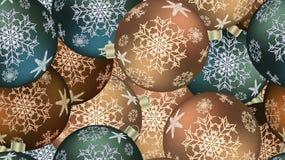 Bożenarodzeniowa zimy tekstura bezszwowy wzór dla nowego roku od stubarwnych round piłek, choinka Wektorowy tło ilustracja wektor