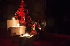 Bożenarodzeniowe świeczki skład Obrazy Stock