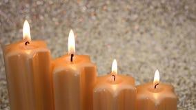 Bożenarodzeniowe świeczki z rzędu zbiory