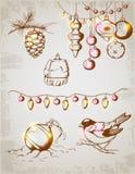 Bożenarodzeniowe dekoracje Zdjęcie Stock
