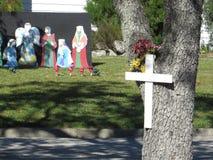 Bożenarodzeniowe dekoracje, Floryda obraz royalty free
