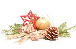 Bożenarodzeniowe dekoracje lub boże narodzenie ornamenty Zdjęcie Royalty Free