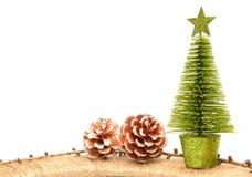 Bożenarodzeniowe dekoracje lub boże narodzenie ornamenty Zdjęcie Stock
