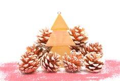 Bożenarodzeniowe dekoracje lub boże narodzenie ornamenty Zdjęcia Stock