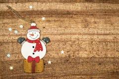 Bożenarodzeniowe dekoracje na drewnianym tle Piękni boże narodzenia ca Obrazy Stock