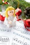 Bożenarodzeniowe dekoracje, postacie aniołowie i notatki, Fotografia Stock