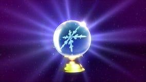 Bożenarodzeniowe płatek śniegu kryształowej kuli purpury ilustracja wektor