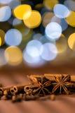 Bożenarodzeniowe pikantność goździkowe, gwiazdowy anyż i cynamon, Zdjęcia Royalty Free