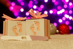 Bożenarodzeniowe prezenta pudełka teraźniejszość z dekoraci bokeh zaświecają zdjęcia royalty free