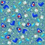 Bożenarodzeniowe tło łyżwy ilustracja wektor