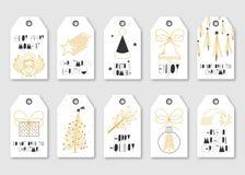 Bożenarodzeniowe Wektorowe etykietek ilustracje Ustawiać royalty ilustracja