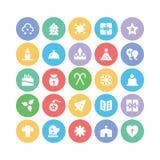 Bożenarodzeniowe Wektorowe ikony 8 Obrazy Stock