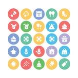 Bożenarodzeniowe Wektorowe ikony 6 Obrazy Stock