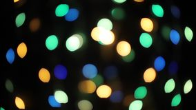 Bożenarodzeniowego bokeh światła abstrakcjonistyczny wakacyjny tło Defocused ligths boże narodzenia zdjęcie wideo