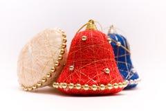 Bożenarodzeniowego dzwonu ornamenty fotografia stock