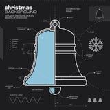 Bożenarodzeniowego dzwonu projekta wektoru tło obraz stock