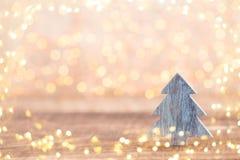 Bożenarodzeniowego kartka z pozdrowieniami drewniany tło fotografia stock
