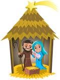 Bożenarodzeniowego narodzenia jezusa narodziny Jezusowa buda Odizolowywająca Zdjęcia Stock