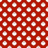 Bożenarodzeniowego nowego roku bezszwowy wzór z Santa Claus brodą kolor tła wakacje czerwonego żółty Santa broda Xmas zima modna ilustracji