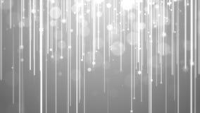 Bożenarodzeniowego tła biały temat z światło smugą, bokeh połyskiwać i cząsteczka płatkiem śniegu, Obraz Stock