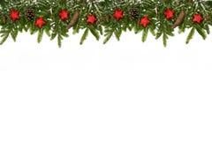 Bożenarodzeniowego wierzchu dekoraci czerwieni długie gwiazdy Zdjęcia Royalty Free