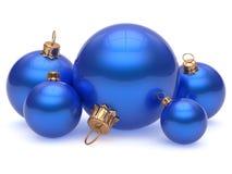 Bożenarodzeniowej balowej przybranie dekoraci nowy rok glansowana błękitna wigilia ilustracji