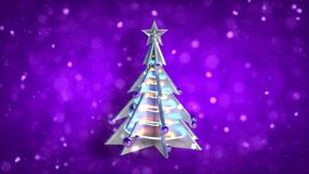 Bożenarodzeniowej dekoracji xmas pętli purpur drzewna błyskotliwość royalty ilustracja