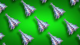 Bożenarodzeniowej dekoracji xmas pętli zieleni drzewna błyskotliwość v4 zbiory