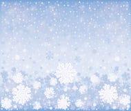 Bożenarodzeniowej zimy mroźny tło ilustracji