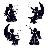 Bożenarodzeniowi aniołowie ilustracji