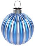 Bożenarodzeniowi balowi nowy rok wigilii bauble dekoraci błękita srebra Obraz Stock