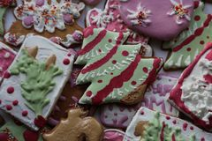 Bożenarodzeniowi cukierki od Syberia Ręcznie Robiony obraz stock