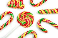 Bożenarodzeniowi cukierki odizolowywający na białym tle Fotografia Stock