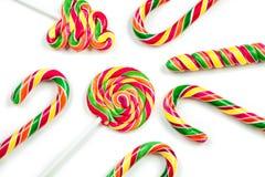 Bożenarodzeniowi cukierki odizolowywający na białym tle Obrazy Stock