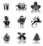 Bożenarodzeniowi elementy ustawiający Obraz Royalty Free